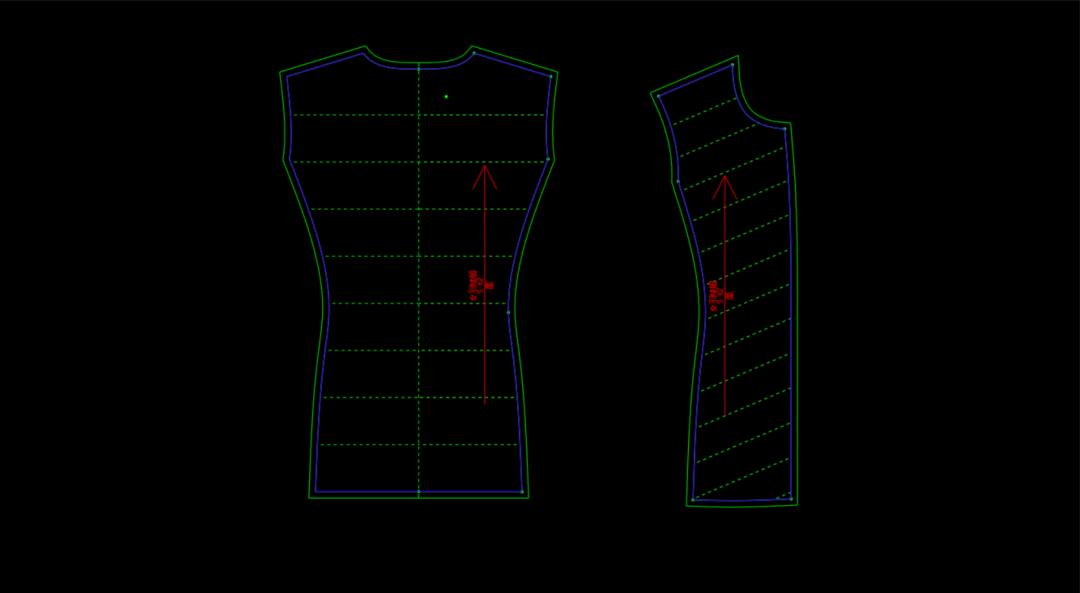 怎样用博克CAD做羽绒服绗缝线?